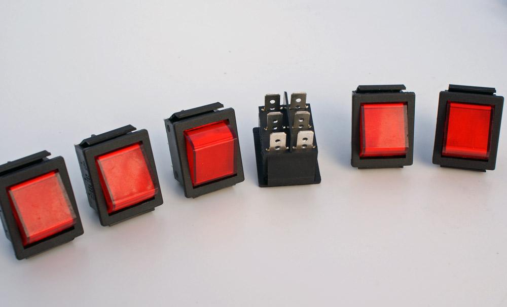 6-Stueck-Wippschalter-Wechsler-2-polig-Wippenschalter-250V-6-5A-Snap-in-Montage