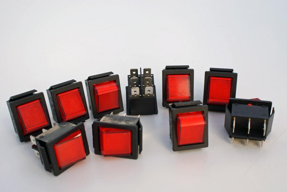 10-Stueck-Wippschalter-Wechsler-2polig-Wippenschalter-250V-6-5A-Snap-in-Montage