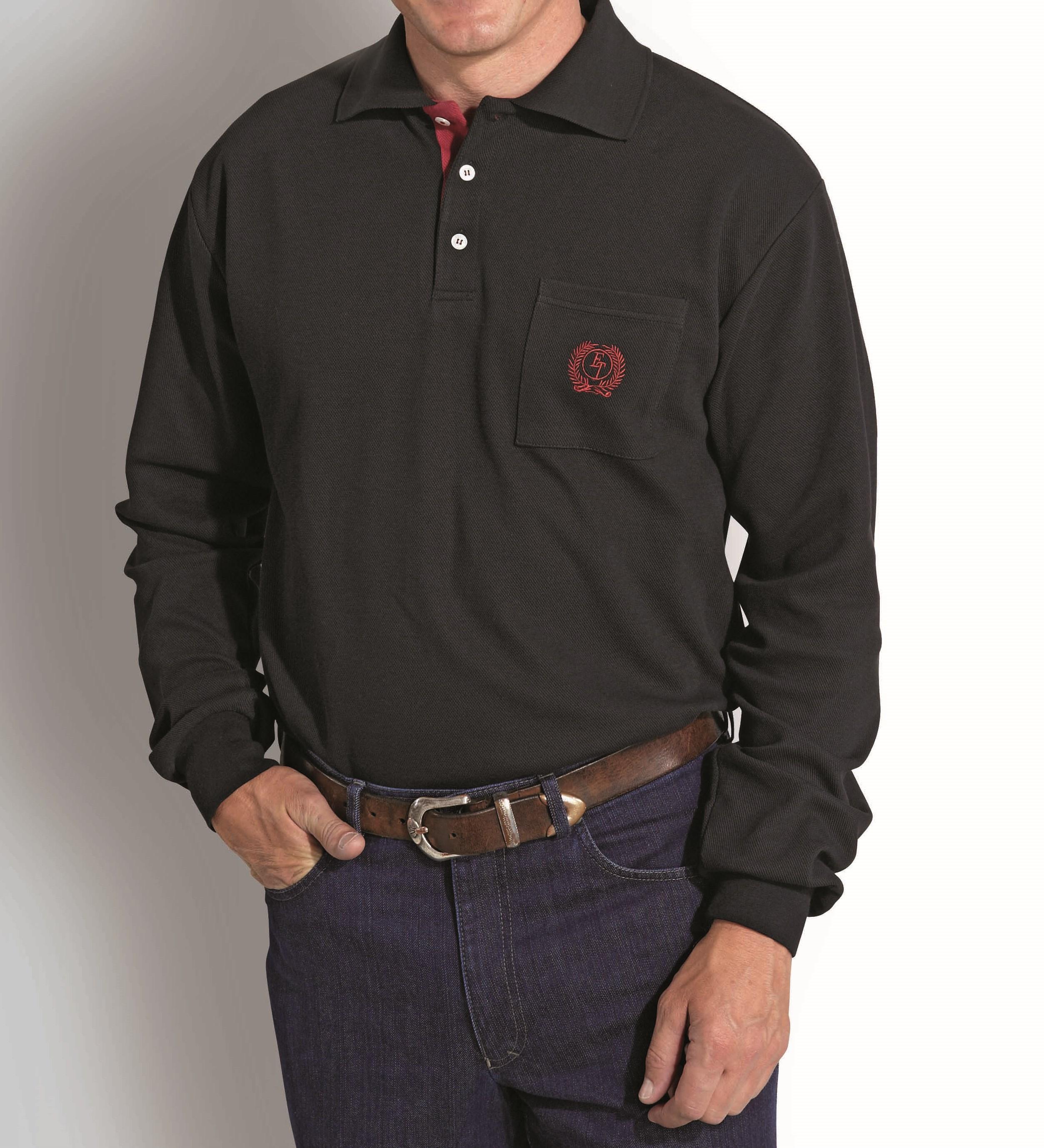 herren langarmshirt polo shirt langarm poloshirt schwarz u. Black Bedroom Furniture Sets. Home Design Ideas
