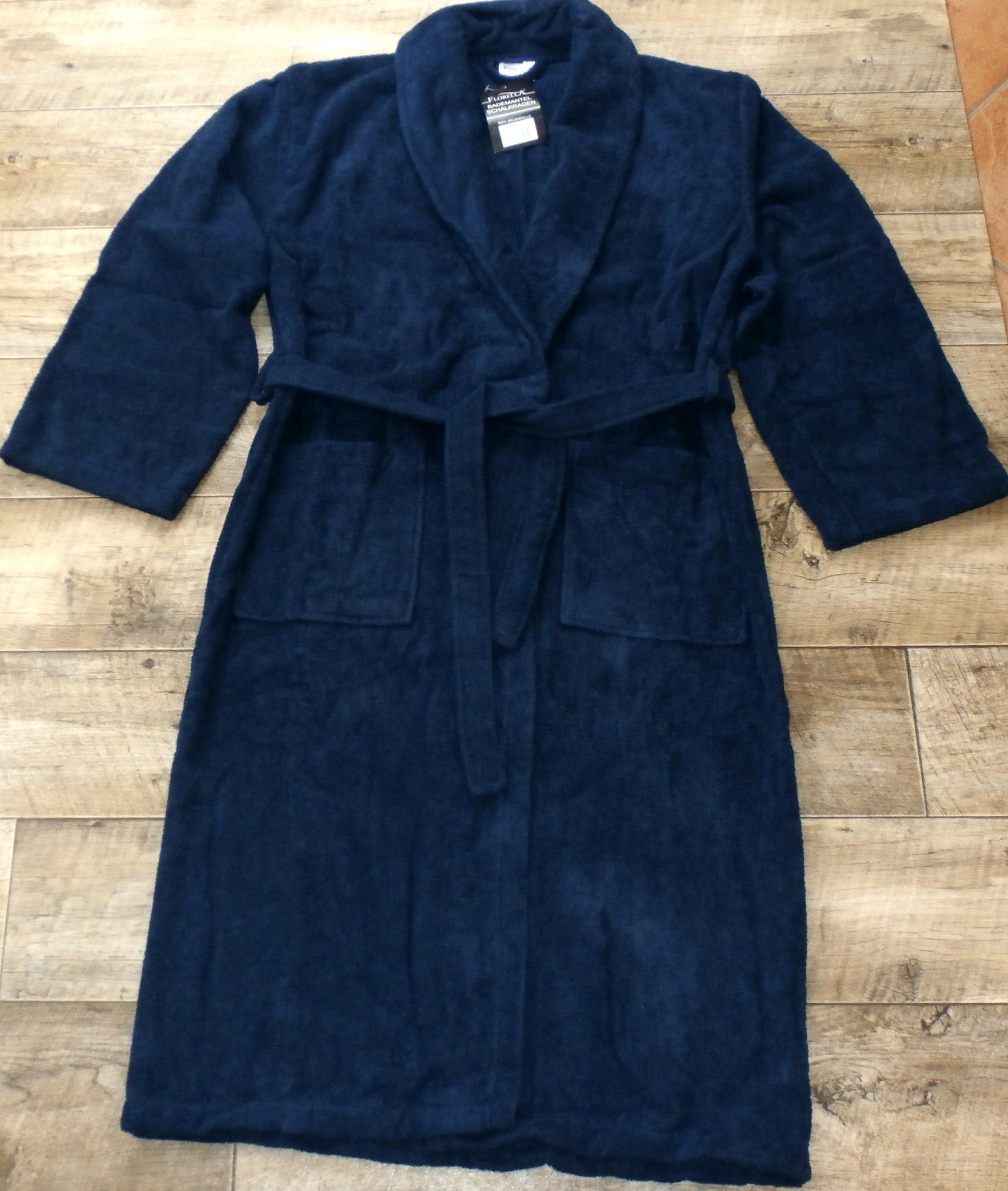 herren damen bademantel saunamantel hausmantel bade morgen mantel wei grau blau ebay. Black Bedroom Furniture Sets. Home Design Ideas