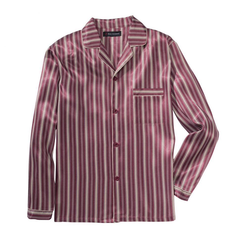 herren satin pyjama 3xl xxxl schlafanzug gestreift bordaux. Black Bedroom Furniture Sets. Home Design Ideas