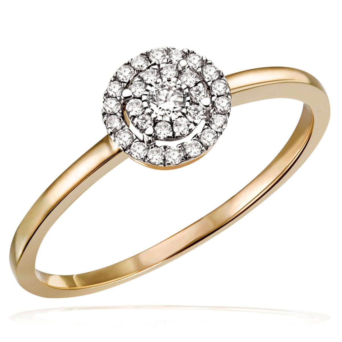 Goldmaid-Halskette-oder-Ring-585-Gelbgold-29-Brillanten-0-16-ct-Echtschmuck-Neu