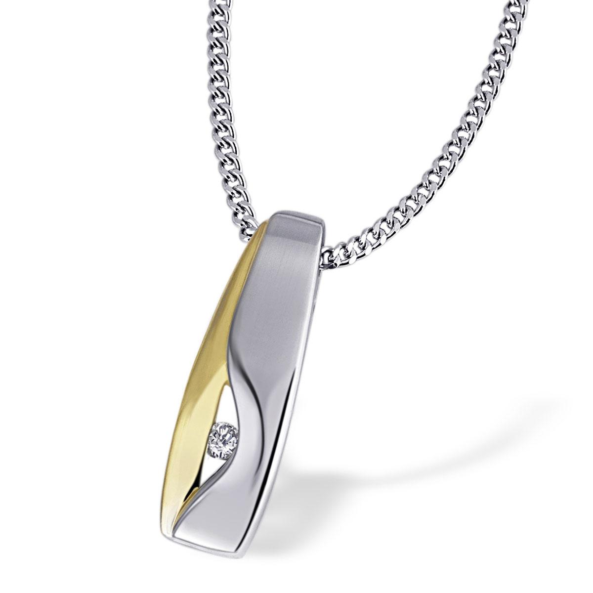 Goldmaid-Damenring-Kette-oder-Creolen-925er-Sterlingsilber-vergoldet-Brillanten