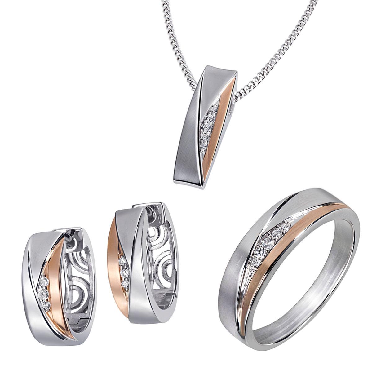 Goldmaid-Damenring-Collier-oder-Creolen-Sterlingsilber-925-mit-Zirkonia