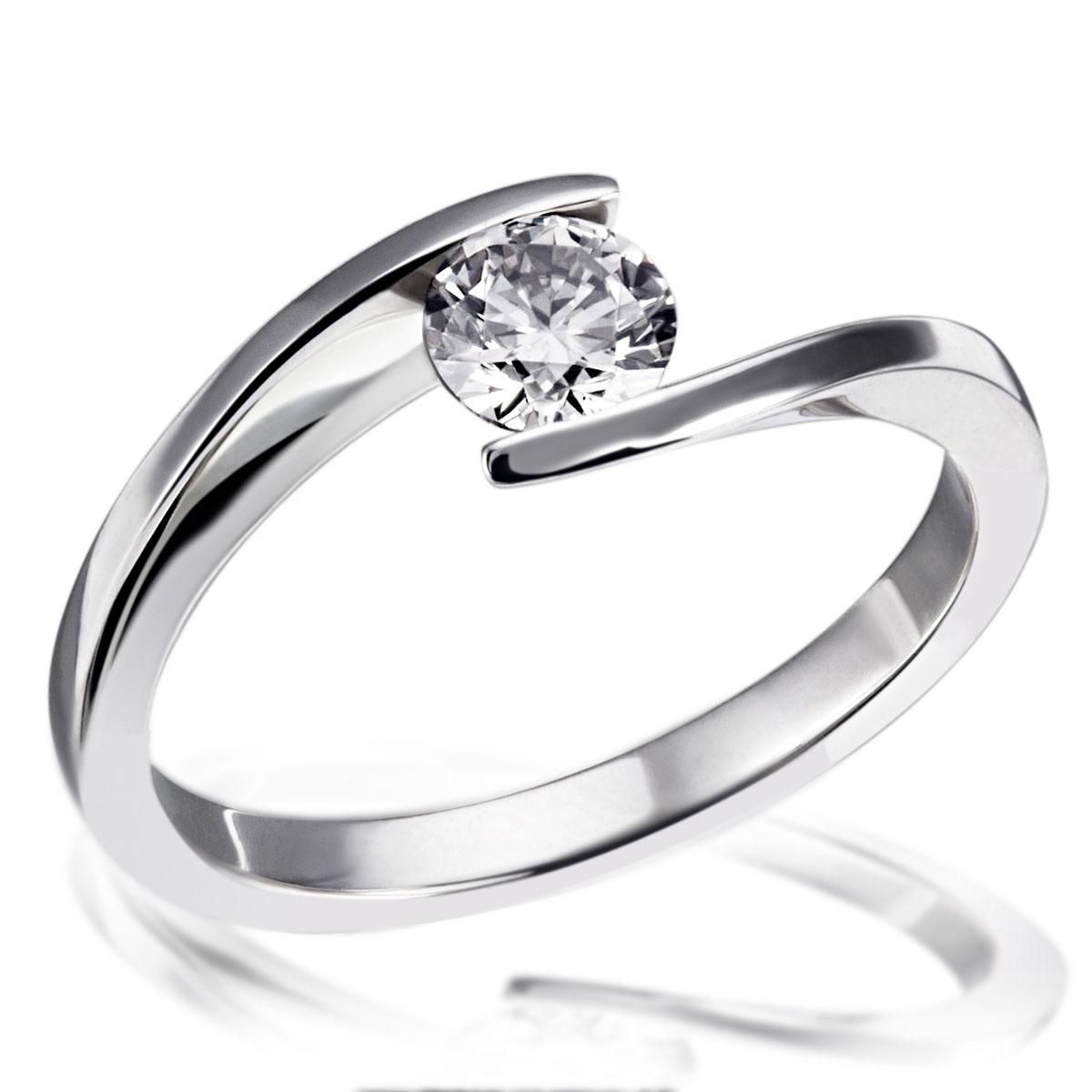 Weißgold verlobungsring  goldmaid Ring, Verlobungsring 585 Weißgold 1 Brillant weiß 0,50 ct ...
