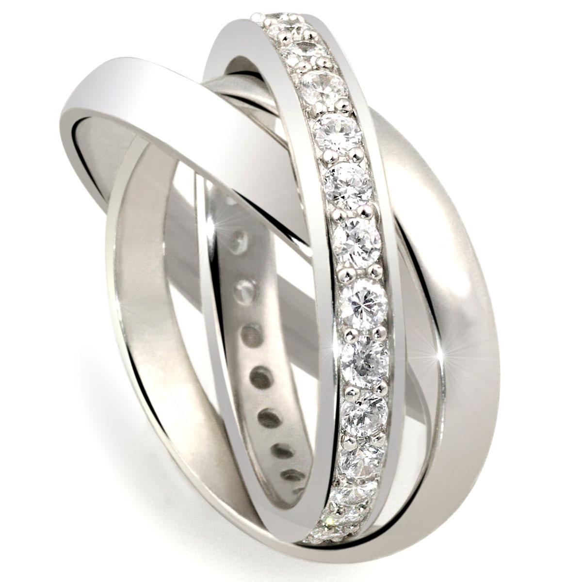 goldmaid ring 3 in 1 echt silber 32 steine kanalfassung ebay. Black Bedroom Furniture Sets. Home Design Ideas