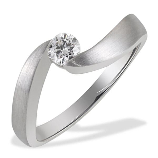 Weißgold ring verlobung  Goldmaid Ring Spannfassung 585 Weißgold 1 Brillant SI/H 0,25 ct ...
