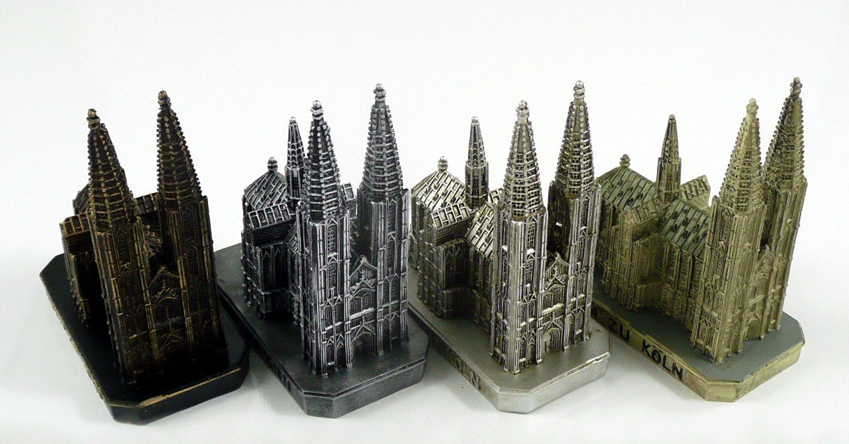cologne cathedral k ln church germany model figure statue cologne souvenir ebay. Black Bedroom Furniture Sets. Home Design Ideas