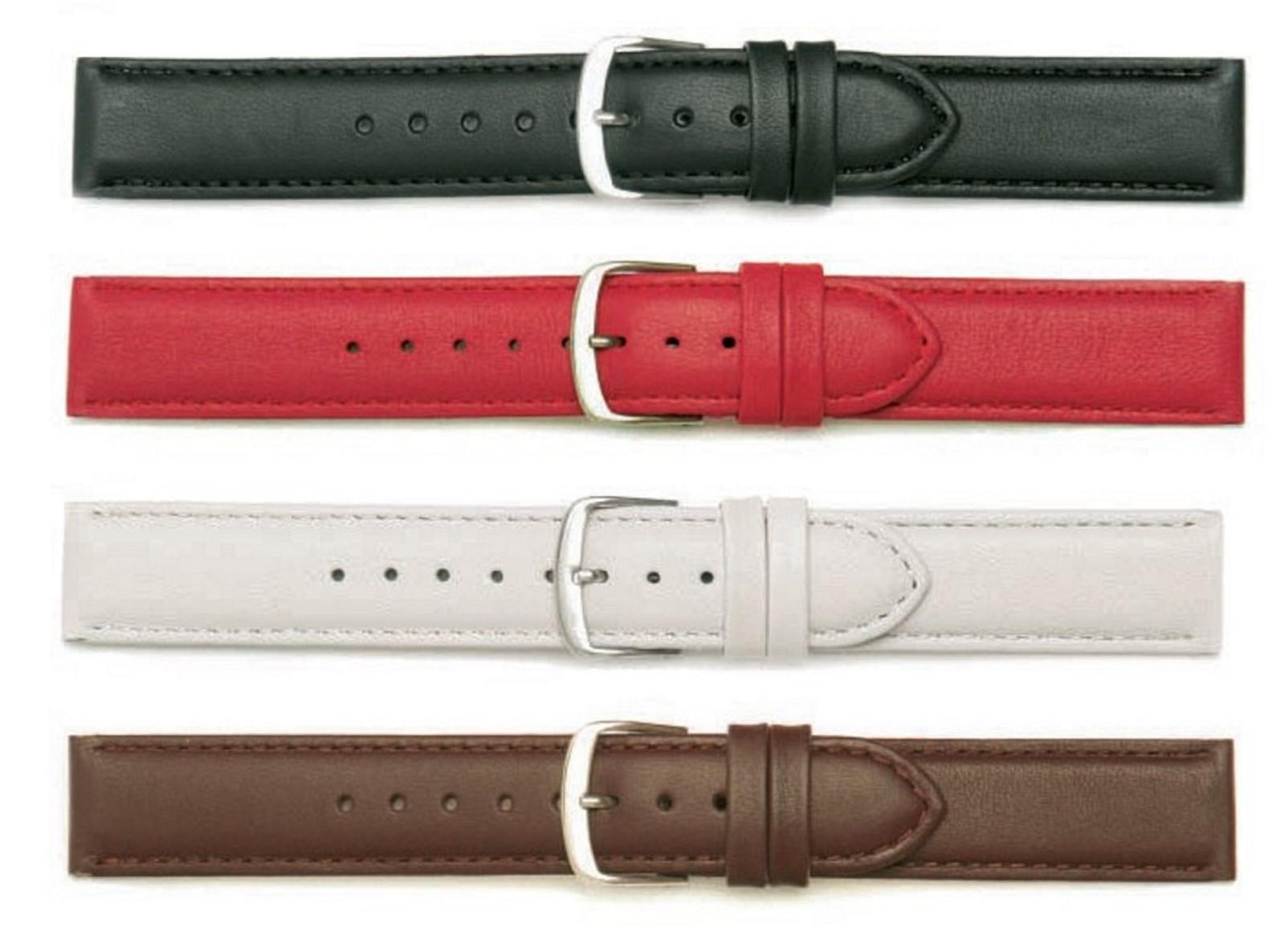 Uhrenarmband Jungkalb Modell Chur weiß 24 mm