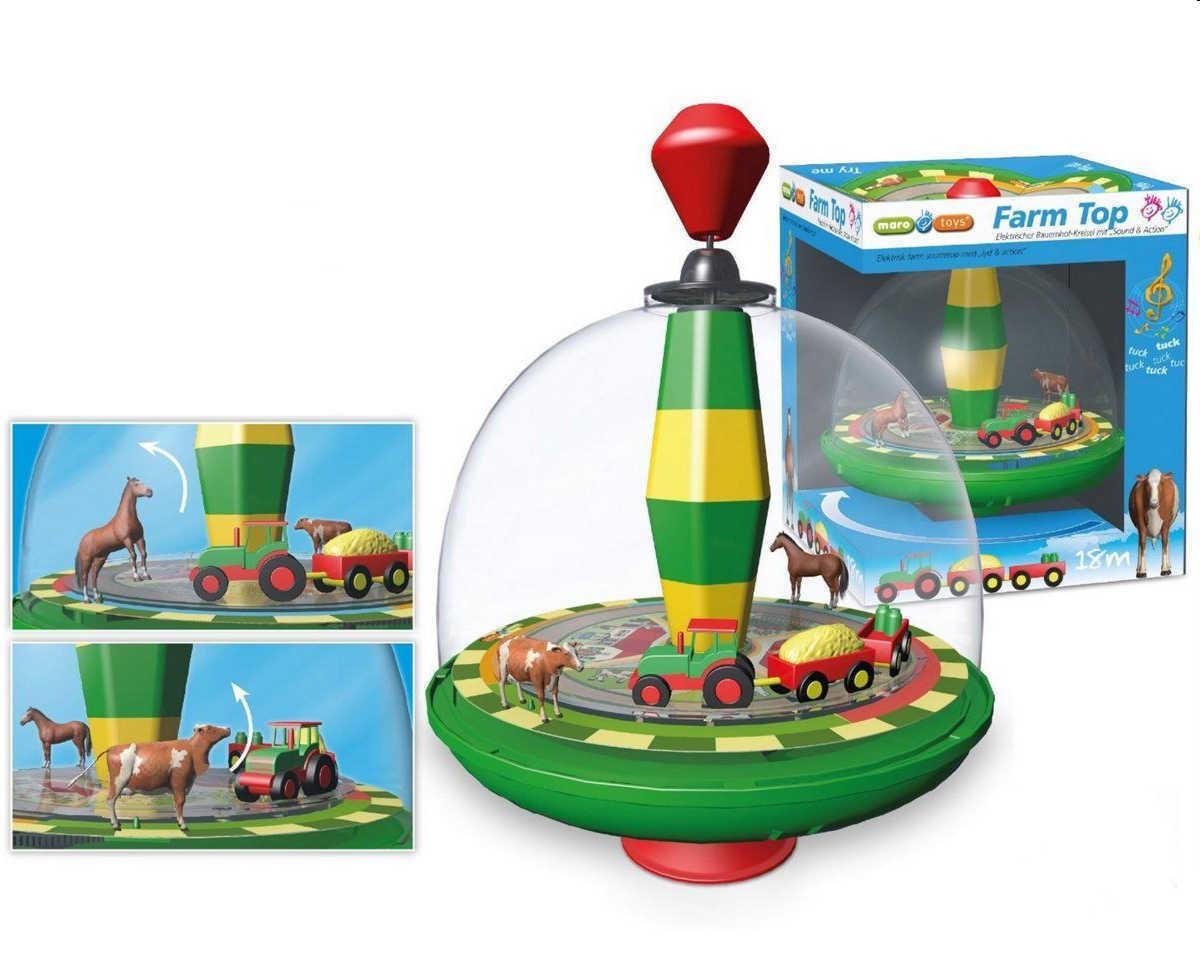 Maro toys tobrummkreisel bauernhof kühe pferde eisenbahn