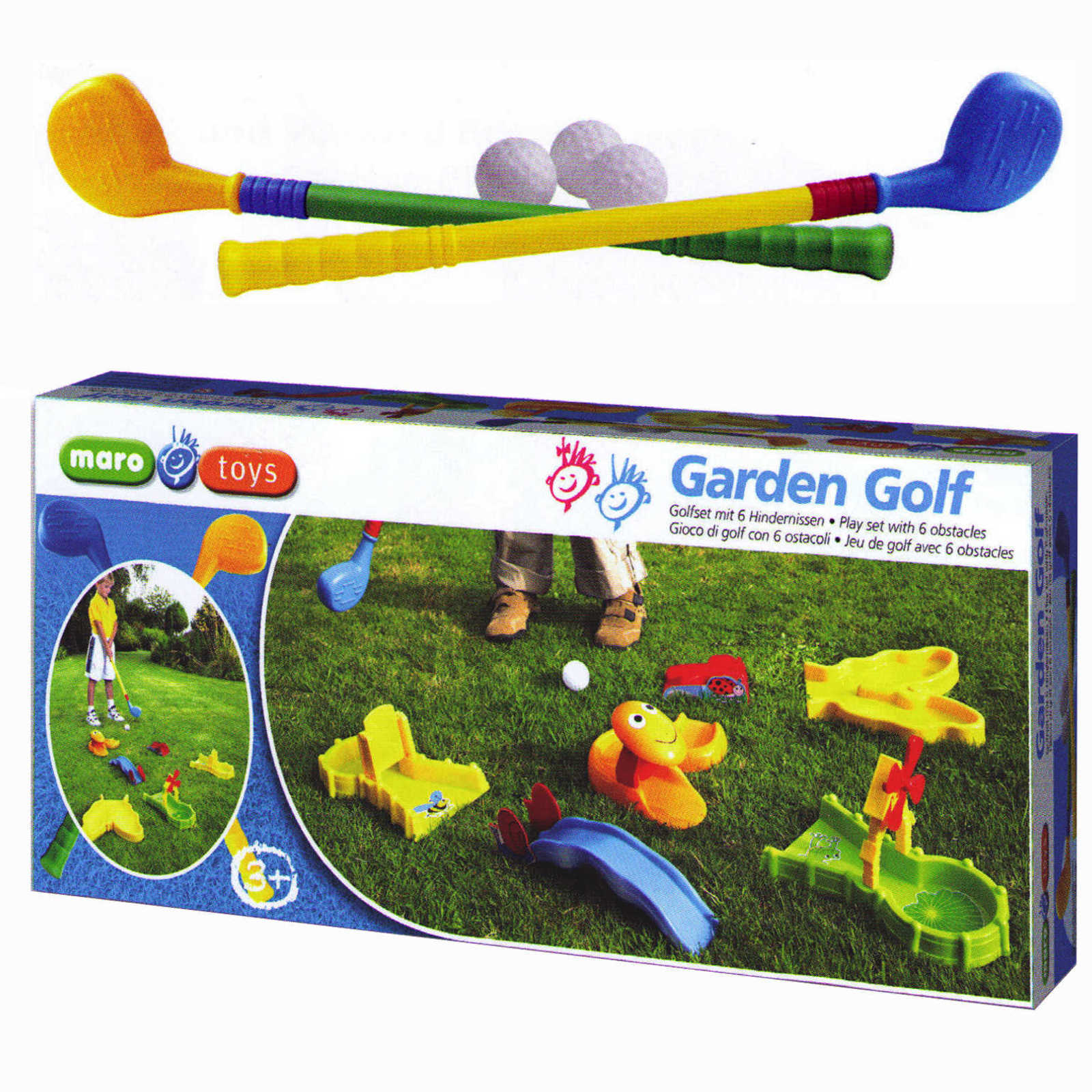 maro toys garten golf minigolf indoor golfset 6 hindernisse outdoor golfsch ger ebay. Black Bedroom Furniture Sets. Home Design Ideas