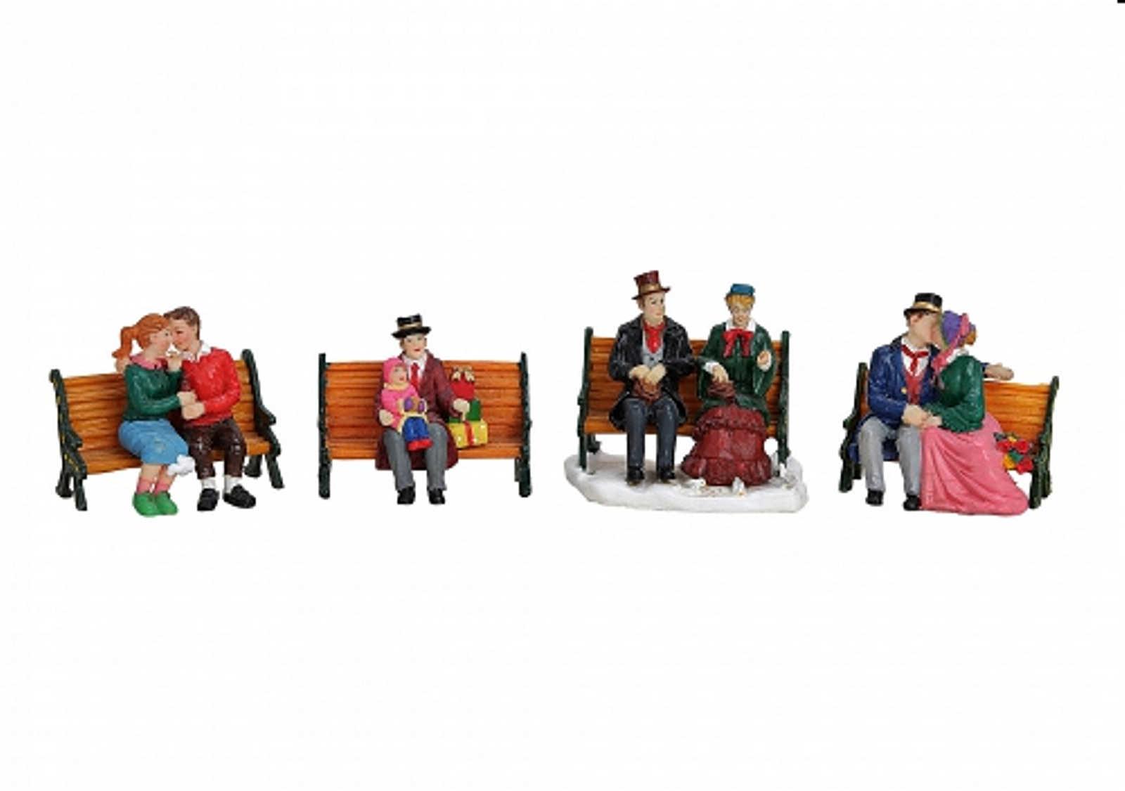 lichthaus g wurm weihnachtliche miniatur paare winterszene paar auf der bank ebay. Black Bedroom Furniture Sets. Home Design Ideas