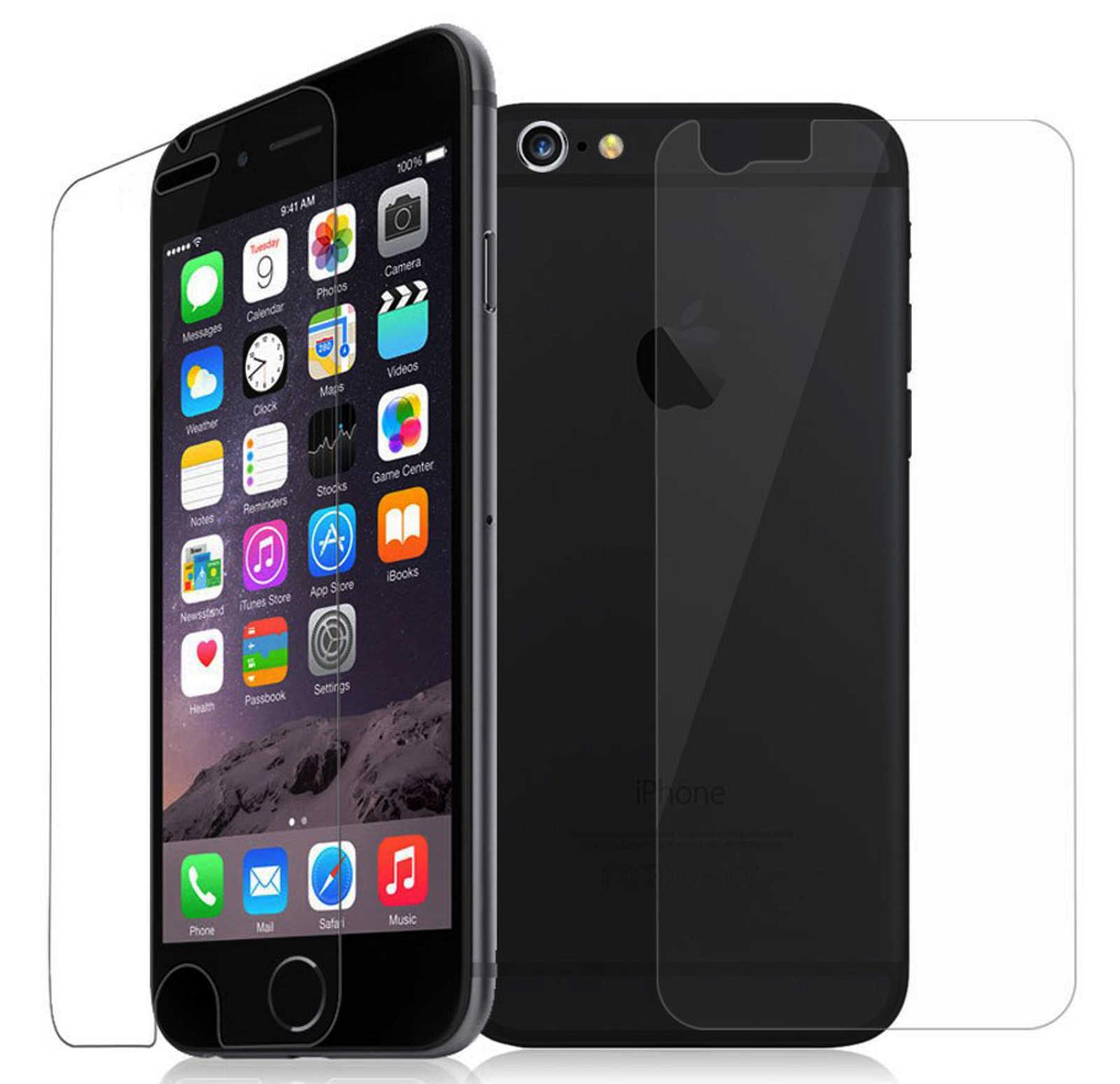 verre tremp apple iphone 6 devant derri re de protection h9 v ritable ebay. Black Bedroom Furniture Sets. Home Design Ideas
