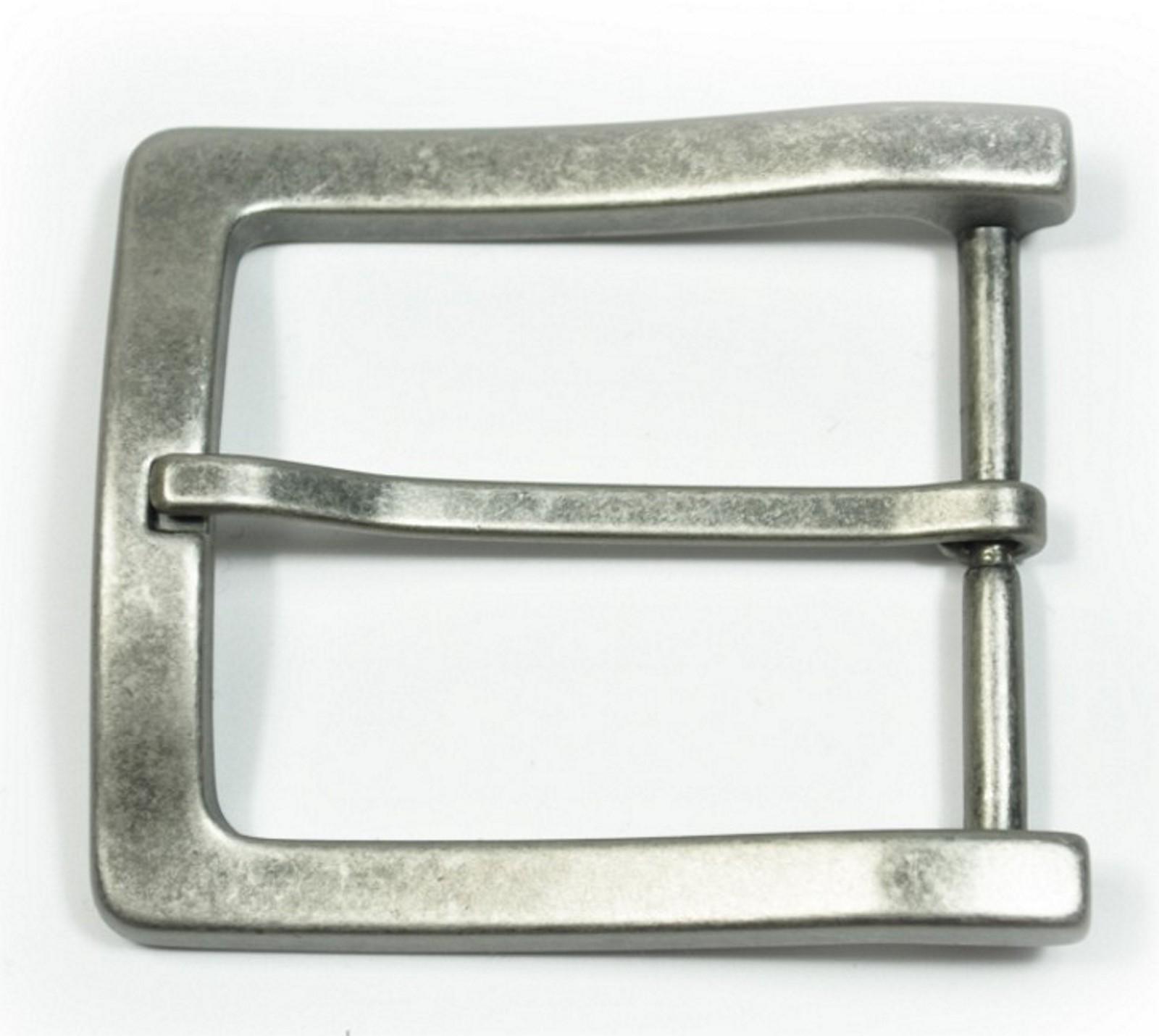 Schließe Buckle Gürtel-Schnalle Lilie Metall gold Used Wechselschließe Schnallen