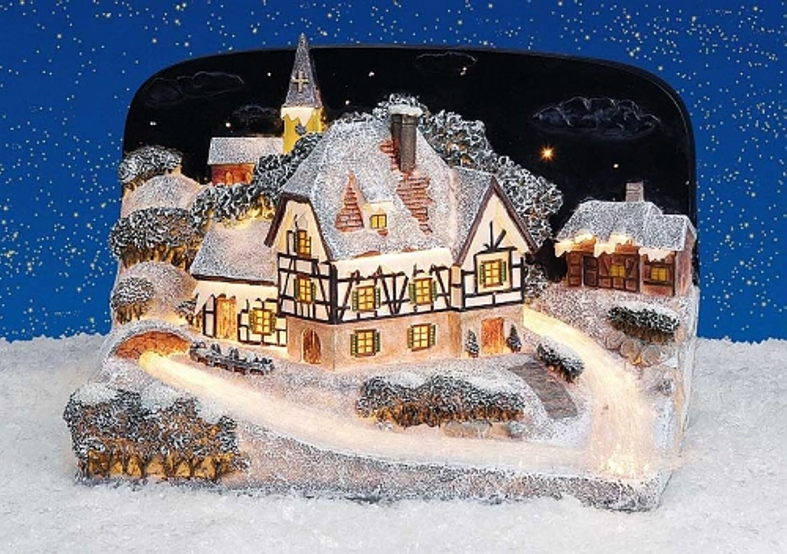 Lichthaus g wurm winterdorf lichtkirche deko haus for Weihnachten deko