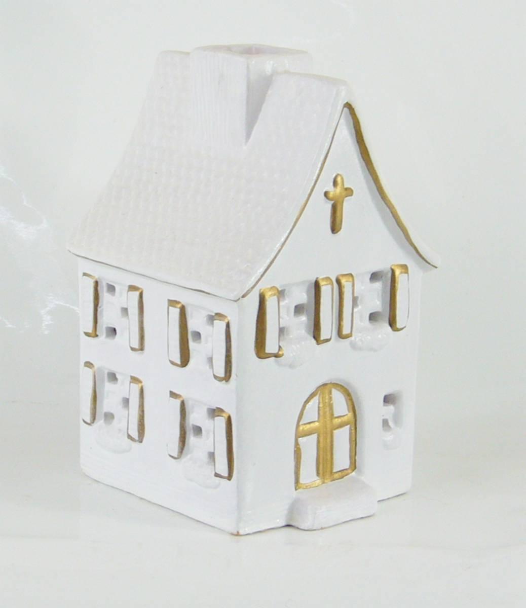 Lichthaus Keramik Kirche Haus Bauernhaus Weihnachten Fur Teelicht Ebay