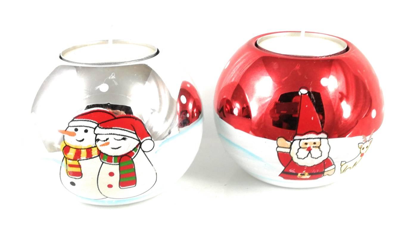 Weihnachtsmann Teelichthalter 3 Modelle