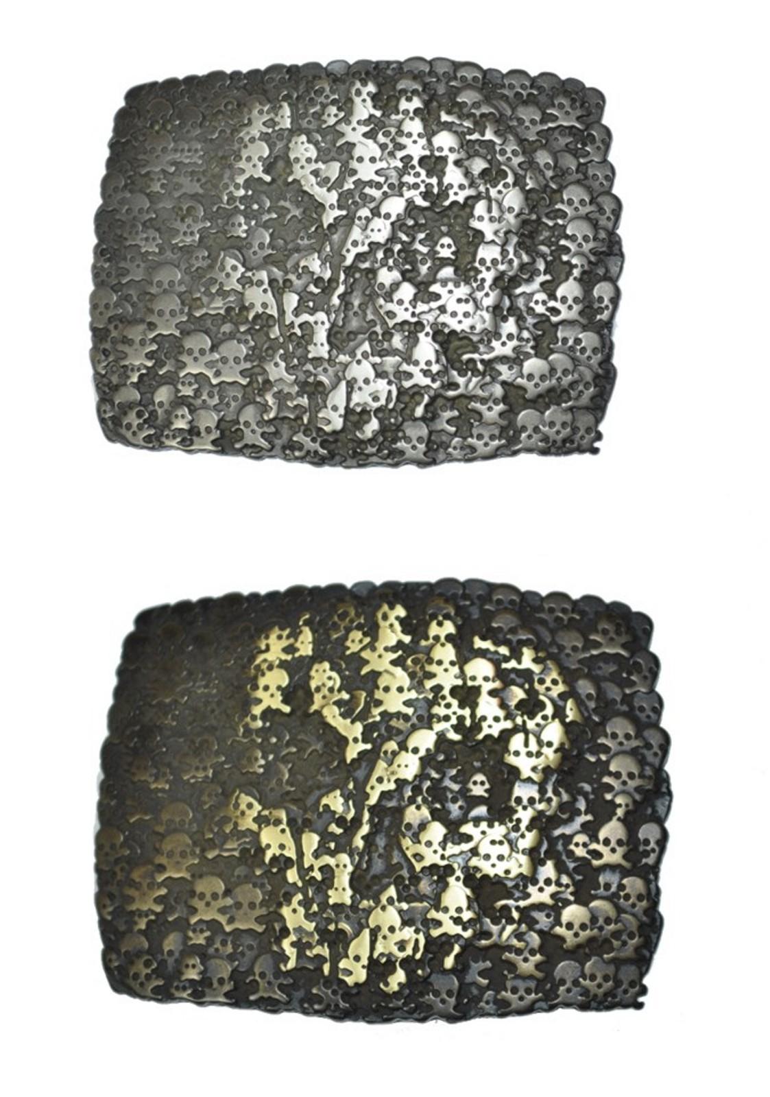 Schließe Buckle Gürtel-Schnalle Metall Rochenmuster Schnallen Wechselschließe