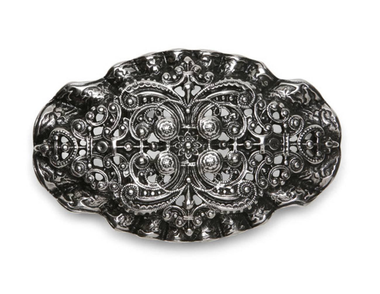 Schließe Buckle Gürtel-Schnalle Wechselschließe Peace Metall für 4 cm Schnallen
