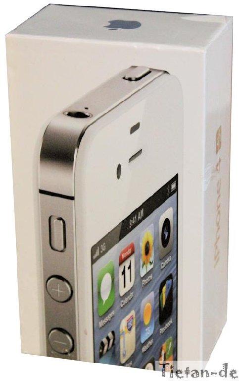 Apple-Iphone-4S-16-GB-Weiss-Kein-Simlock-Kein-Branding-Kein-Vertrag-OVP