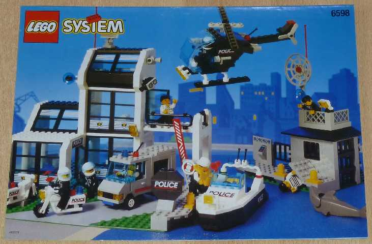 lego bauanleitung 6598 system polizeistation ebay. Black Bedroom Furniture Sets. Home Design Ideas