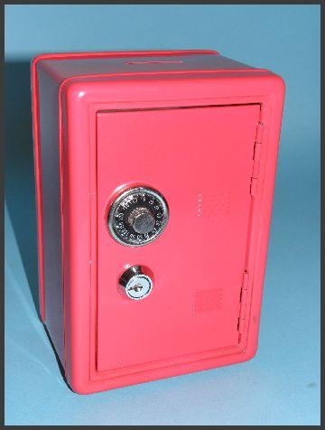 tresor spardose mit zahlenschloss schl ssel safe metalltresor rot neu ovp ebay. Black Bedroom Furniture Sets. Home Design Ideas