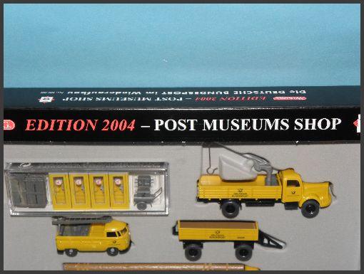 wiking 80 11 post museums shop edition 2004 deutsche bundespost im wiederaufbau. Black Bedroom Furniture Sets. Home Design Ideas