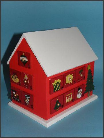 adventskalender haus holz zum bef llen advents kalender 20 x 19 cm holzhaus neu ebay. Black Bedroom Furniture Sets. Home Design Ideas
