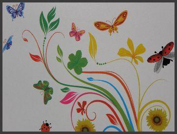 flower power blumen laptop folie aufkleber sticker schutzfolie 27 x 36 cm neu ebay. Black Bedroom Furniture Sets. Home Design Ideas