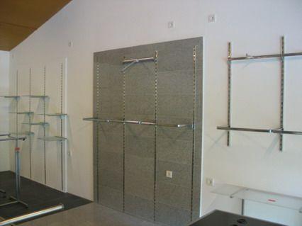 8 wandschienen 250cm regalschiene s ule wandregal ladenbau tego tegometall vitra. Black Bedroom Furniture Sets. Home Design Ideas
