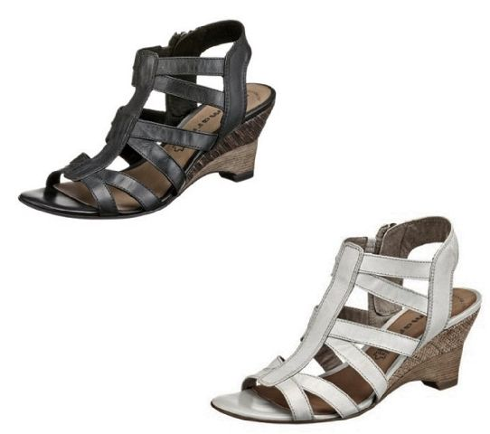 tamaris damen schuhe sandaletten leder 6 5 cm keilabsatz. Black Bedroom Furniture Sets. Home Design Ideas