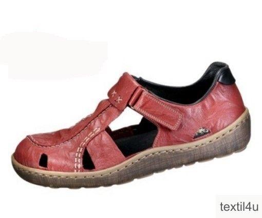 damen schuhe slipper leder rieker rot. Black Bedroom Furniture Sets. Home Design Ideas