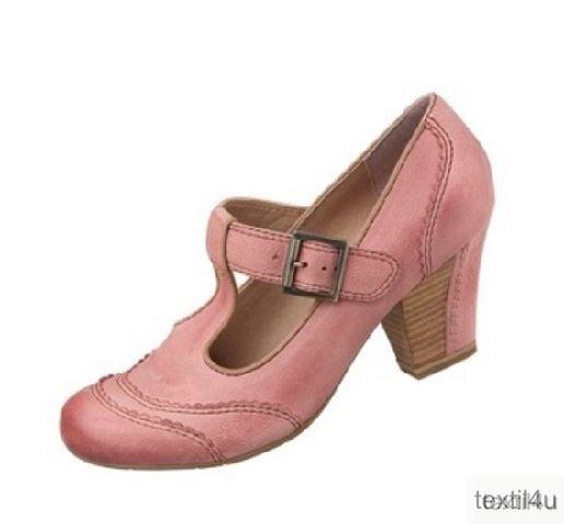 tamaris damen schuhe spangenpumps leder rosa ebay. Black Bedroom Furniture Sets. Home Design Ideas