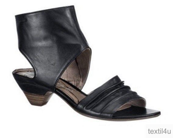 tamaris damen schuhe schaft sandaletten leder schwarz 3 5 cm absatz ebay. Black Bedroom Furniture Sets. Home Design Ideas