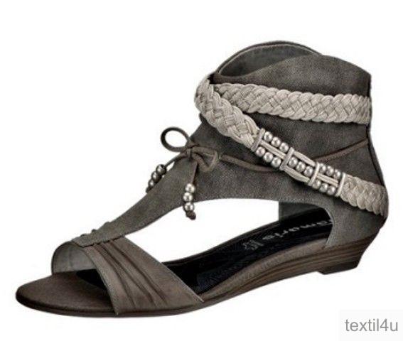 tamaris damen schuhe schaft sandaletten 3 cm keilabsatz. Black Bedroom Furniture Sets. Home Design Ideas