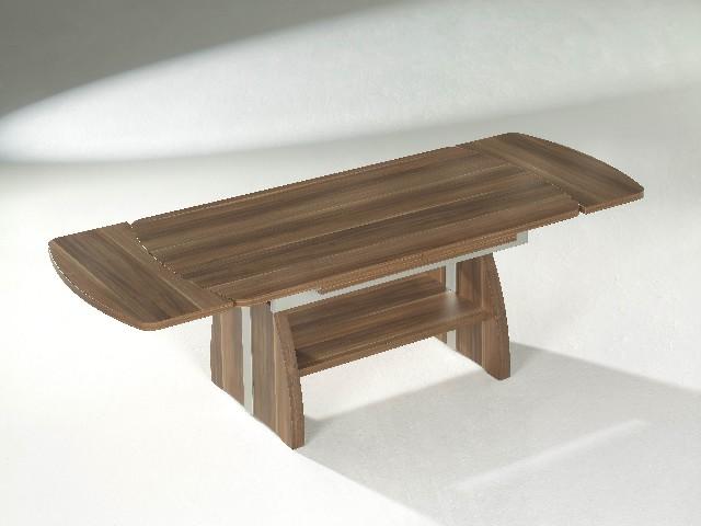 Ilse lift couchtisch tisch ausziehbar kernnuss walnuss ebay for Funktionstisch couchtisch