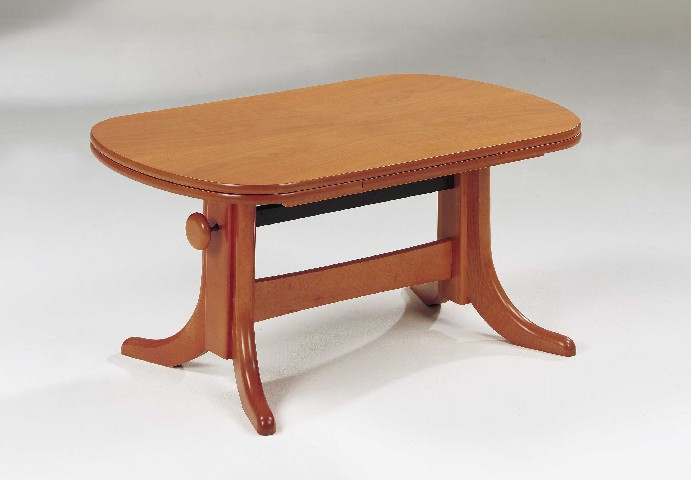 Couchtisch wohnzimmer tisch erle ausziehbar h henverst ebay for Couchtisch erle
