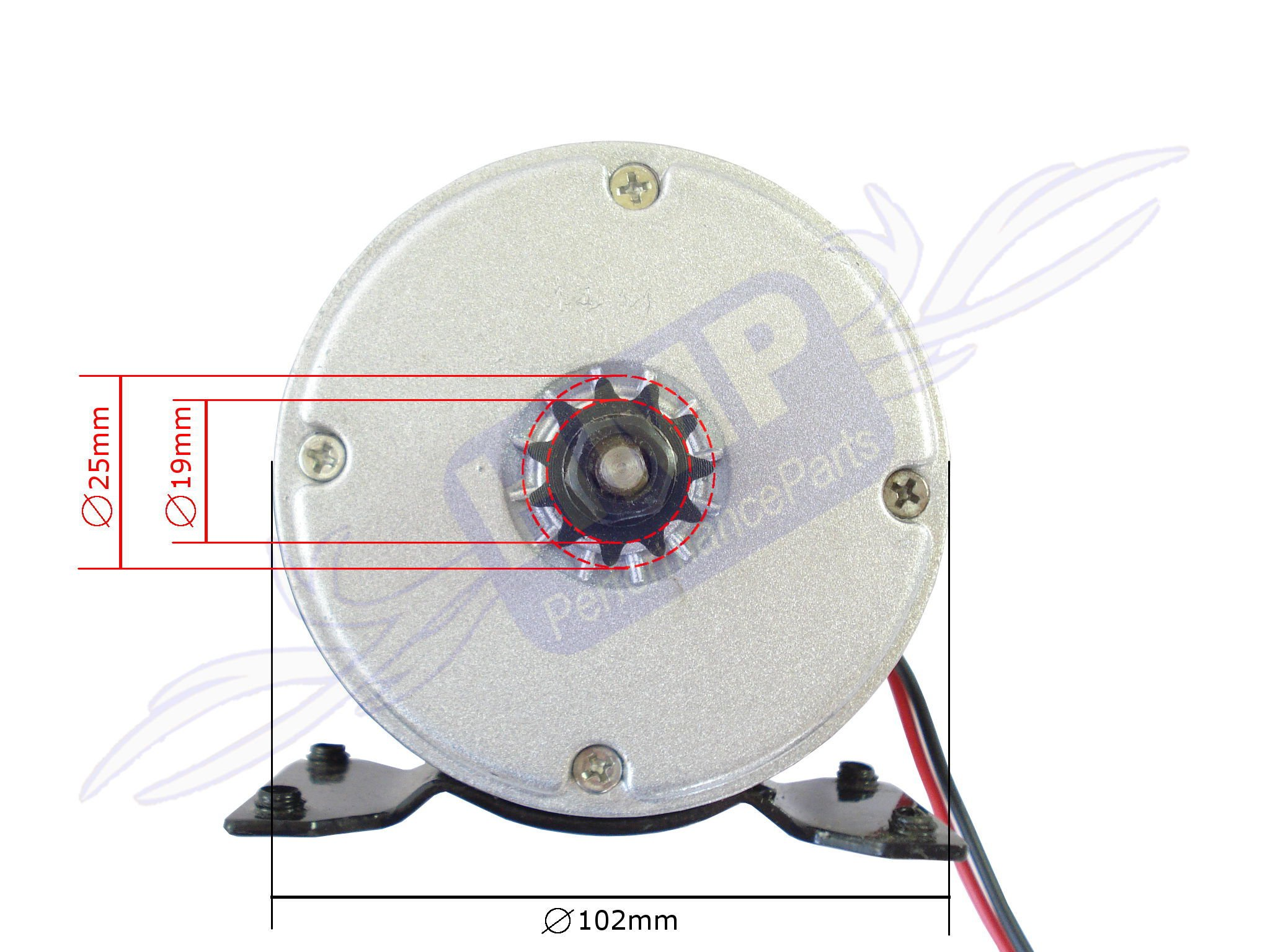 Hmparts E Scooter Rc Electric Motor 24v 300w My1016