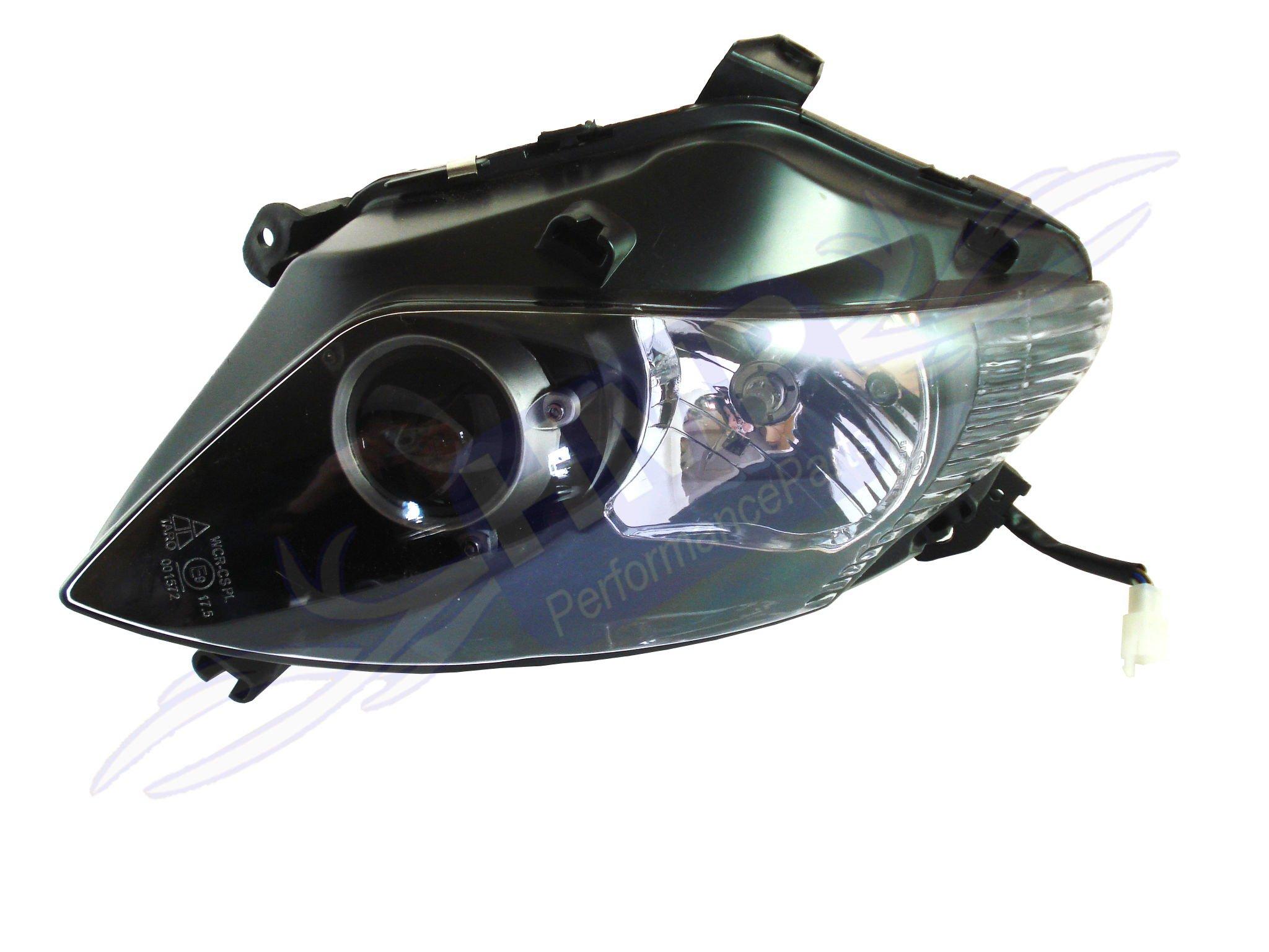 hmparts motorrad roller scooter scheinwerfer mit leuchtmittel links ebay. Black Bedroom Furniture Sets. Home Design Ideas