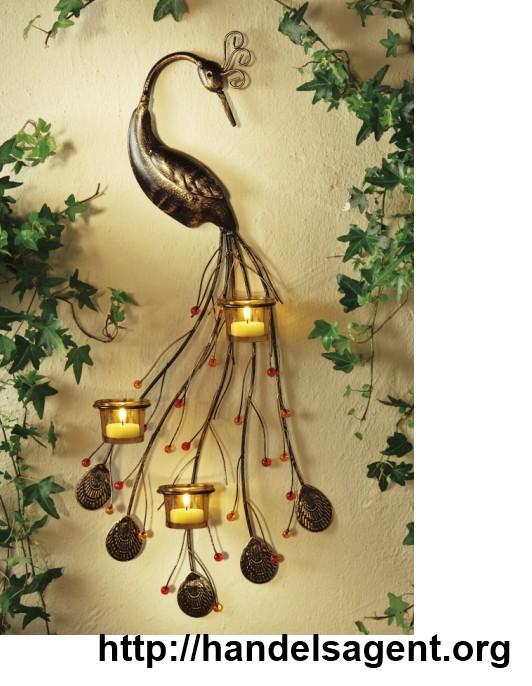 Wand teelichthalter paradisvogel metallgestell for Dekoration wand