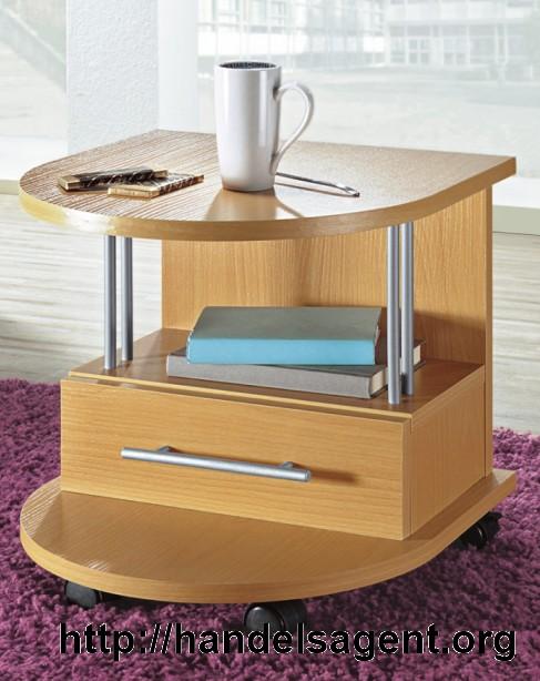 beistelltisch buche tisch mit schublade nachtkonsole nachttisch ablage ebay. Black Bedroom Furniture Sets. Home Design Ideas