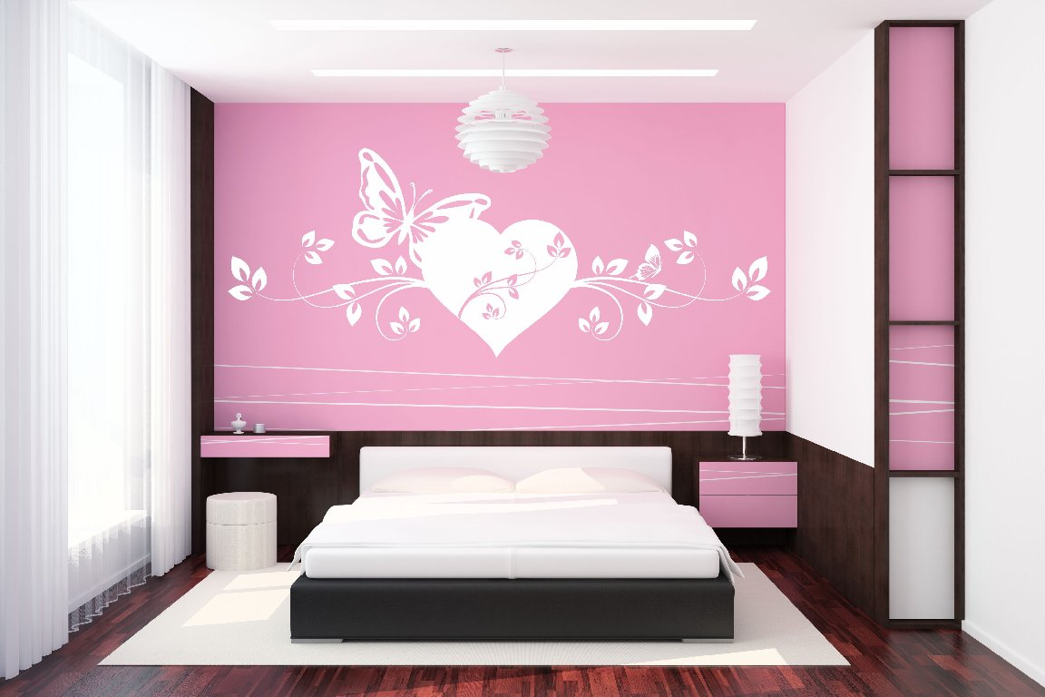 wandtattoo herz love liebe schmetterling ranke tapete. Black Bedroom Furniture Sets. Home Design Ideas