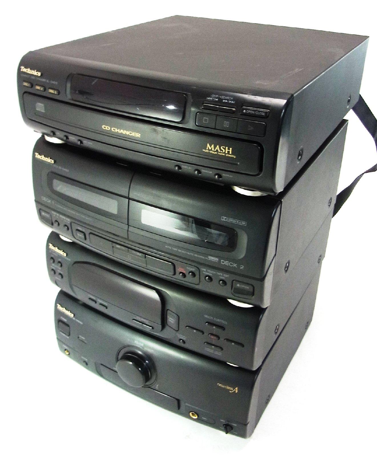 technics hifi anlage 4 bausteine 2 boxen verst rker tuner cd wechsler cassette ebay. Black Bedroom Furniture Sets. Home Design Ideas