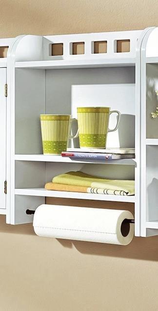 k chenregal wei h ngeregal regalschrank schrankregal. Black Bedroom Furniture Sets. Home Design Ideas