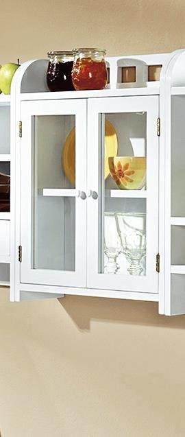 k chenregal wei vitrine h ngeregal regalschrank schrankregal h ngeschrank k che ebay. Black Bedroom Furniture Sets. Home Design Ideas