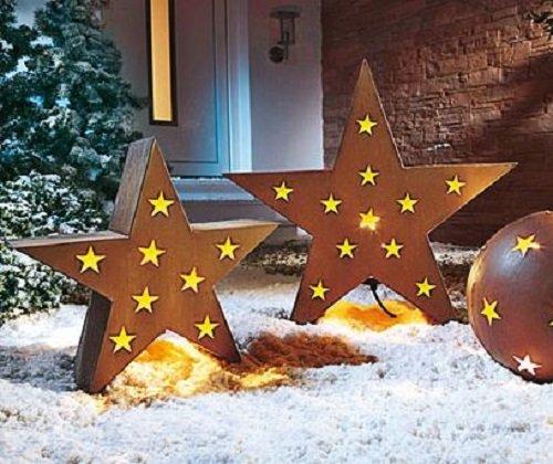 Weihnachtsstern gro stern echtrost weihnachtsdeko for Weihnachtsdeko aus rost