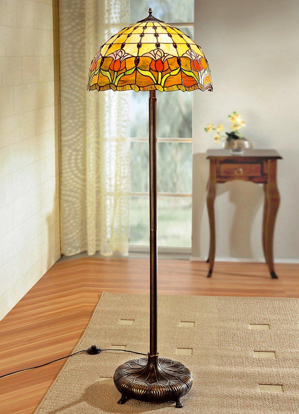 tiffany optik stil stehlampe stehleuchte lampe licht standleuchte dekoration ebay. Black Bedroom Furniture Sets. Home Design Ideas