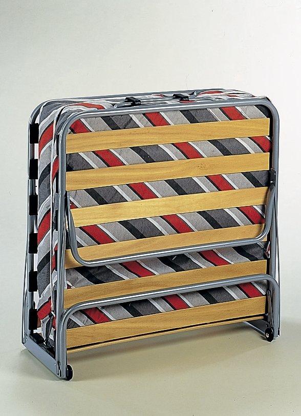 g stebett gestreift klappbar bett mit matratze sessel klappbett auf rollen ebay. Black Bedroom Furniture Sets. Home Design Ideas