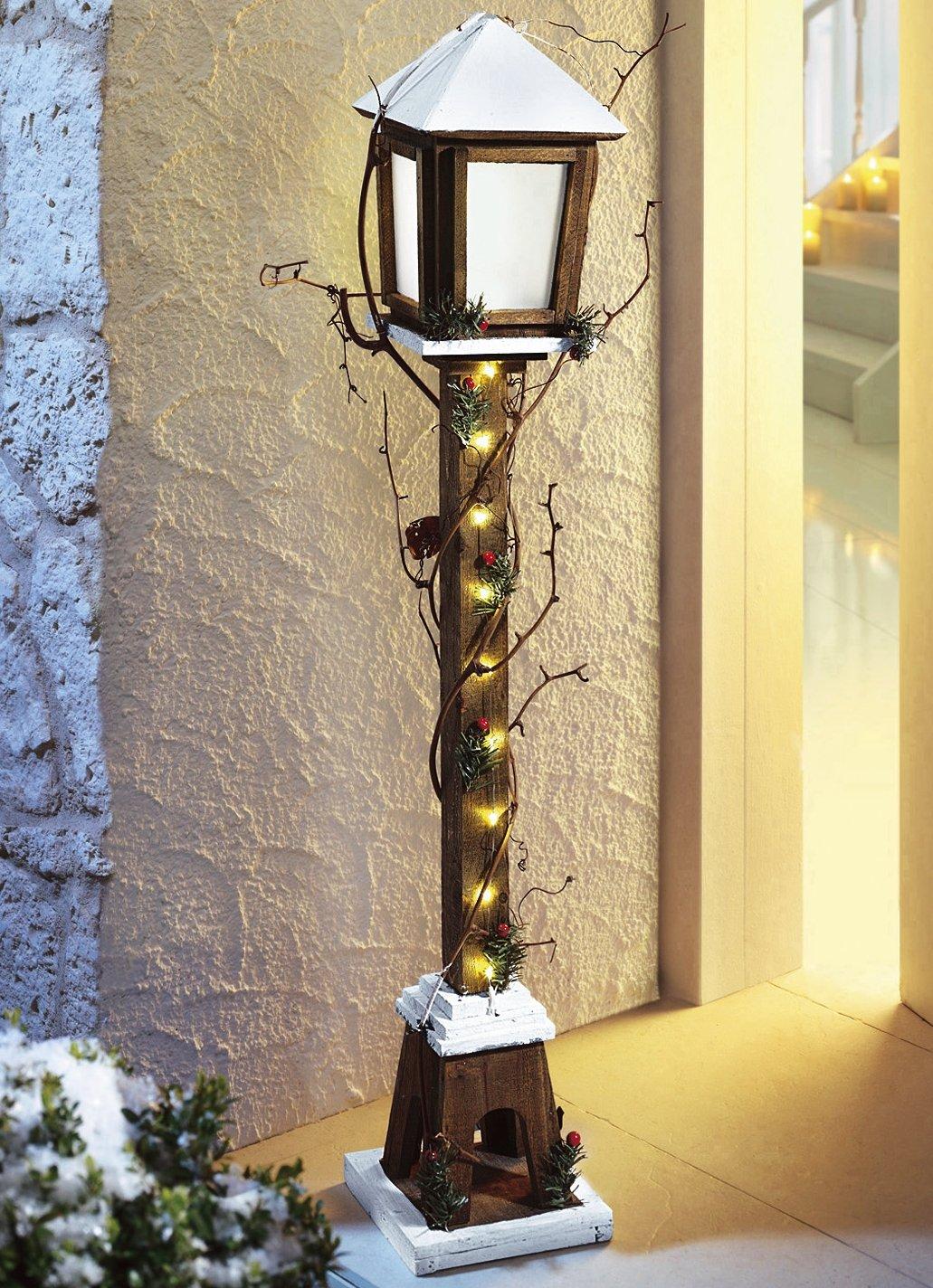 led leuchte aus holz au enleuchte lampe licht leuchte winterdeko. Black Bedroom Furniture Sets. Home Design Ideas