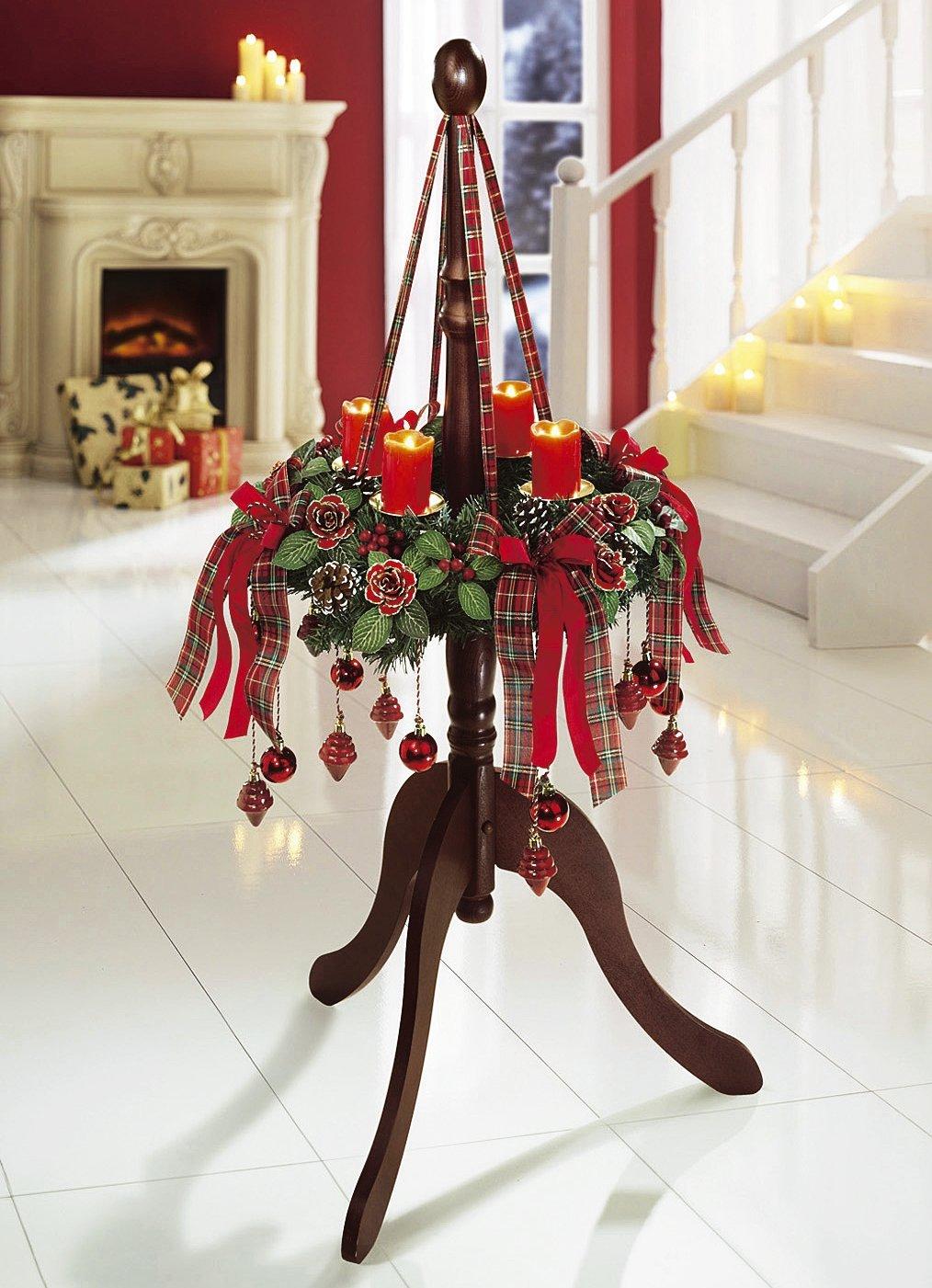 adventskranz mit kugel zapfen weihnachten deko kranz advent ebay. Black Bedroom Furniture Sets. Home Design Ideas